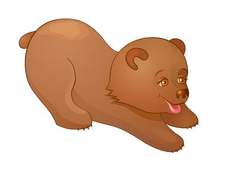 huggable: Little Bear plays Illustration