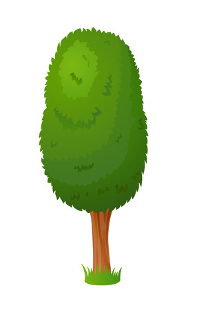 summer cartoon: Vector cartoon stylized fairy tree