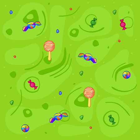 Backgrounds of sweets and amusing figures Vector