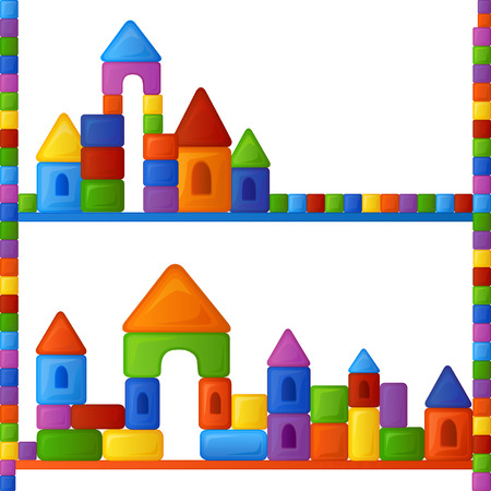 Bright multi-colored background is from the fun and different combinations of elements of childrens building kit Vector
