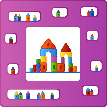dreamland: Bright multi-colored background is from the fun and different combinations of elements of childrens building kit