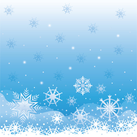 Backgrounds with Christmas snow. Sparkling snowflakes flutter for congratulations