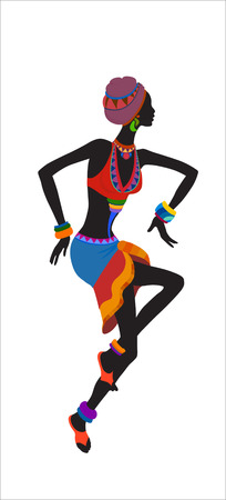 aborigines: Free dance exotic girl. Woman ritual absorbs completely and enters into a trance. Unity with nature and the surrounding her life, reveals her beauty and brings to her life celebration