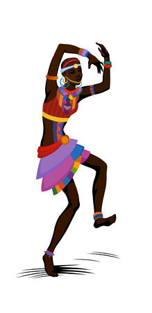 ebony: Free dance exotic girl. Woman ritual absorbs completely and enters into a trance. Unity with nature and the surrounding her life, reveals her beauty and brings to her life celebration