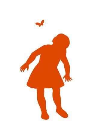 little girl feet: little girl having fun playing