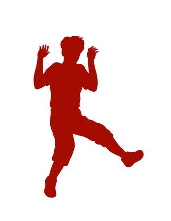energized: Boy having fun playing