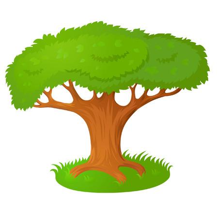 fairy tree: Vector cartoon stylized fairy tree