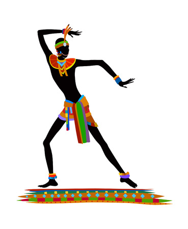 ethnographic: Free dance exotic men. Ritual absorbs the whole person and enters into a trance. Unity with nature and life around him, reveals its beauty and brings into his life a holiday
