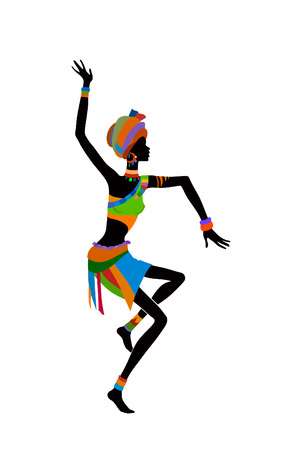 ethnographic: Free dance exotic girl. Woman ritual absorbs completely and enters into a trance. Unity with nature and the surrounding her life, reveals her beauty and brings to her life celebration