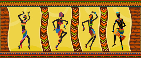 Free dance exotic people. Ritual absorb these people entirely and enters into a trance. Unity with nature and the environment in their lives, reveals their beauty and brings to their lives holiday 일러스트