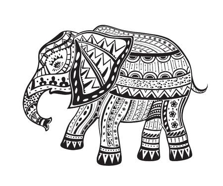 elephant�s: La estilizada figura de un elefante en los patrones de fiesta