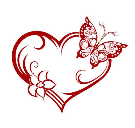 silhouette fleur: Résumé silhouette de papillon décoratif. Il est conçu pour décorer. Peut-être pour le tatouage