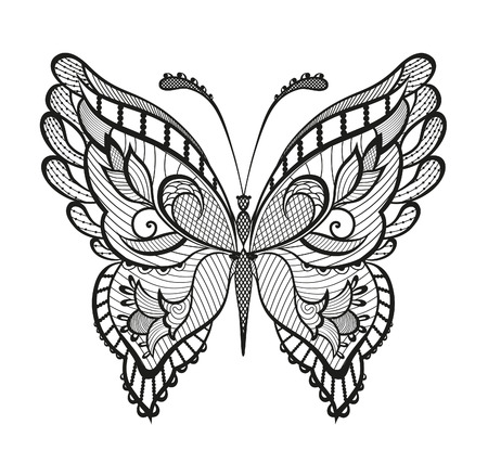 cartoon butterfly: Abstract decorative butterfly.