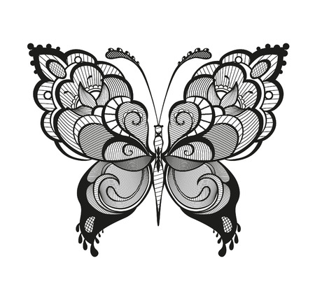 swallowtail butterfly: Abstract decorative butterfly.