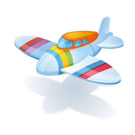 disposition: Little bright colorful airplane waiting child for it to play