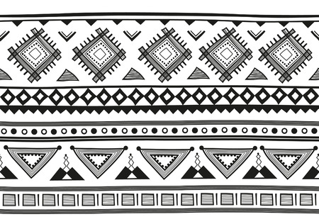 incorporate: Horizontal geometric jacquard pattern in ethnic style