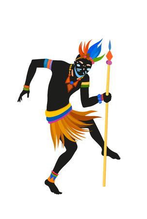 danza africana: African dance dance rituale nel costume nazionale luminoso Archivio Fotografico