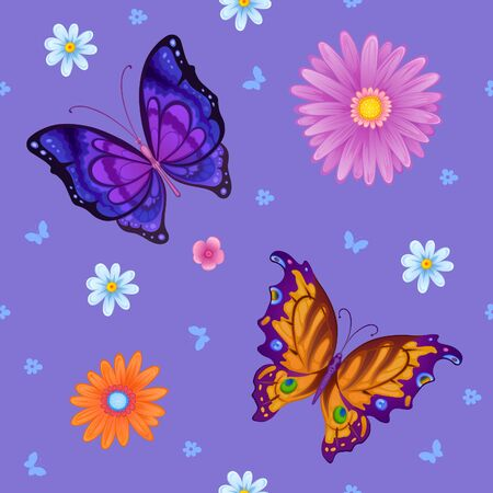 resemble: Flying bright butterflies resemble the summer. Background for beauty and a sense of celebration Stock Photo