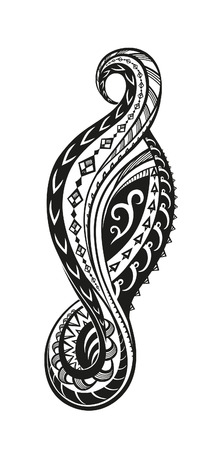 polynesian: Element in free form made in vector. Perfect cards for any other kind of design Illustration