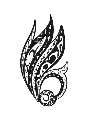 maori: Element in free form made in vector. Perfect cards for any other kind of design Illustration