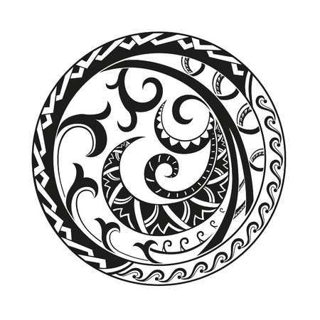 polynesian: Geometric circle element made in vector. Perfect cards for any other kind of design Illustration