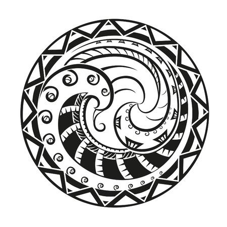 Geometrische cirkel element gemaakt in vector. Perfecte kaarten voor elke andere vorm van het ontwerp Stock Illustratie