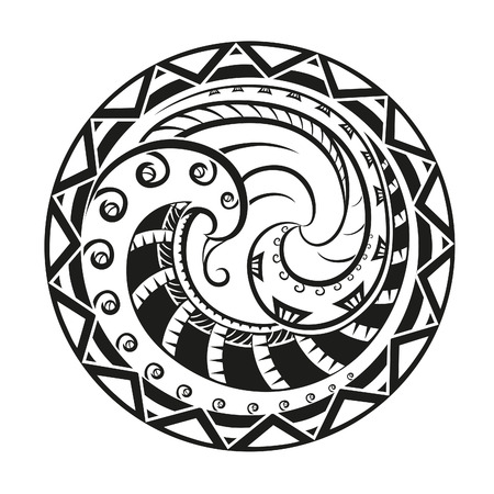 Geometric circle element made in vector. Perfect cards for any other kind of design Illustration