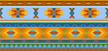jacquard: Horizontal geometric jacquard pattern in ethnic style