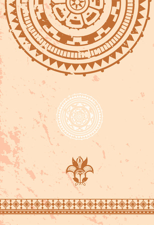 incorporate: Ethnic vintage ornament background is in the African style Illustration