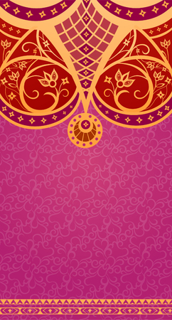 an amulet: Ethnic vintage ornament background is in the Arabic style