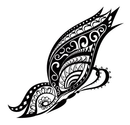 maories: Elementos del patr�n en forma de mariposa hecha en el vector Vectores