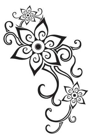 tattoo drawings: Element in free form made in vector. Perfect cards for any other kind of design Illustration