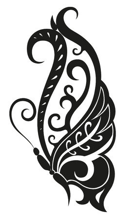polynesian: Pattern elements in a form of butterfly made in vector