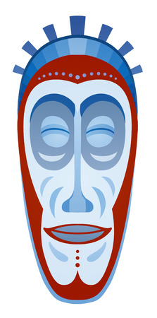 maschera tribale: African tribal mask design with ethnic pattern