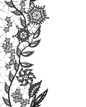 invented: Abstract silhouettes invented decorative flowers and leaves.