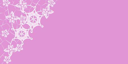 encaje: Siluetas abstractas inventadas flores decorativas y las hojas. Vectores