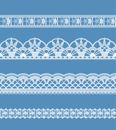 lace: Seamless background is in the form of lace with decorative flowers and leaves Illustration