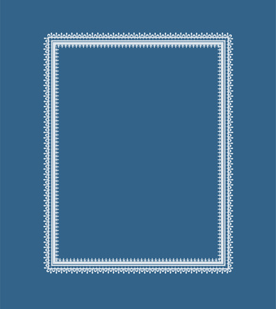 border silhouette: The frame of the elements of abstract lace. Perfect cards for any other kind of design