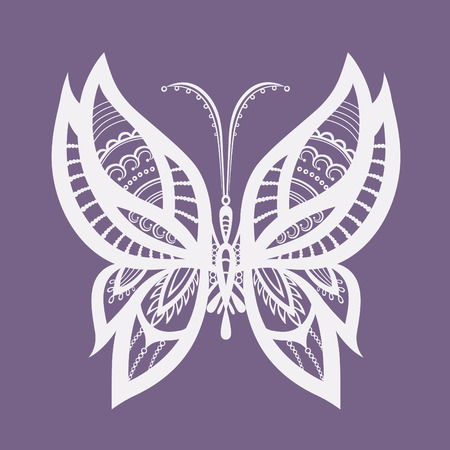 butterfly tattoo design: Abstract silhouette invented decorative butterfly. Reminiscent of lace, it is designed to decorate