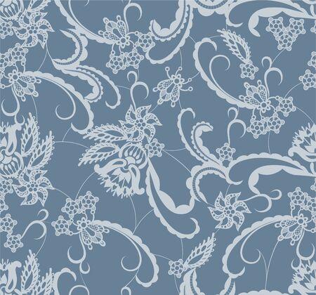 patrones de flores: De fondo sin fisuras es en forma de encaje con flores decorativas y las hojas
