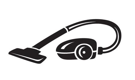 Vector schwarz Staubsauger-Symbol auf weißem Hintergrund Vektorgrafik