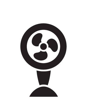black fan: Vector black fan ventilator icon on white background