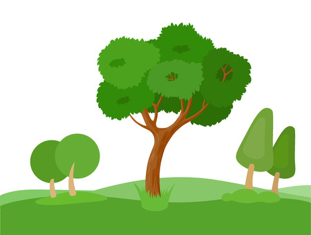 enjoyable: Set of decorative stylized tree for design architectural compositions, and other types of design