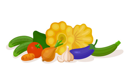 Health food vegetable composition. Still the most some popular vegetables that make up a healthy diet