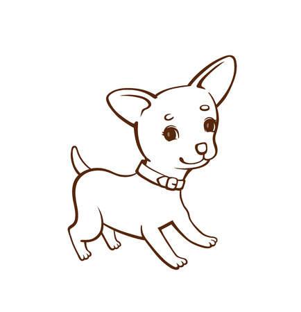 Line Drawing Dog Stock Photos And Images - 123RF
