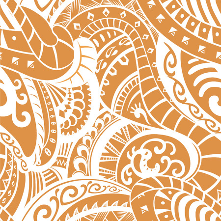 Elements for this pattern made in the style of the tribe Maori. Raster illustration