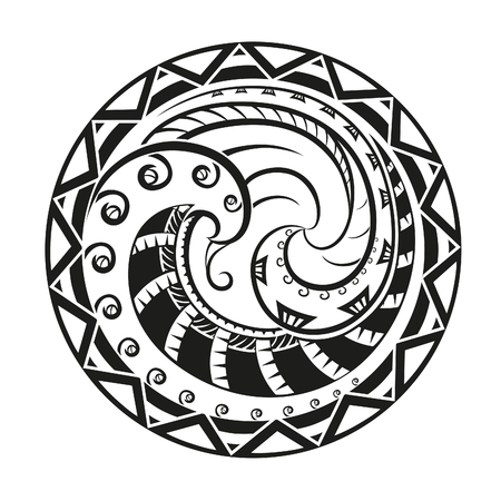 Geometric circle element made in vector. Perfect cards for any other kind of design. Raster illustration