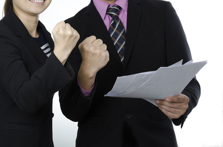 Business actions or activities to empower, encourage great fight  with fist sign