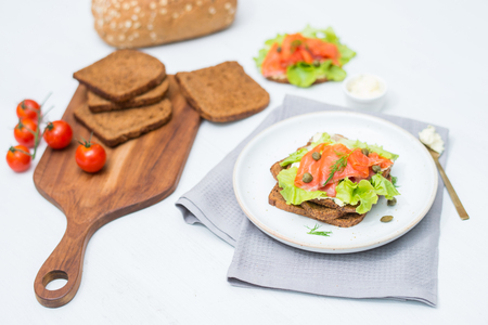 pretzel: Sandwich smoked salmon toast and cream cheese. A recipe thats bound to get you out of bed in the morning