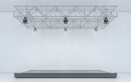 Spotlight background and lamp with stage. 3d rendering Stock Photo